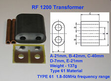 KIT rf1200 Trasformatore per Amplificatore a Mosfet sd2933, sd2943, vrf2933, mrf150