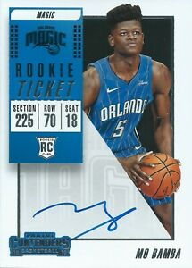 2018-2019 Panini Contenders Rookie Ticket RC Mo Bamba Autograph Magic NBA