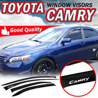For 07-11 Camry Sedan Smoke Slim Tape On Window Visors Rain Sun Guard Deflector