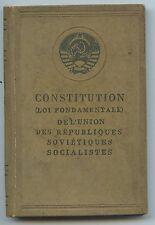 LIVRE / OUVRAGE CONSTITUTION DE L'UNION DES REPUBLIQUES SOVIETIQUES MOSCOU 1937