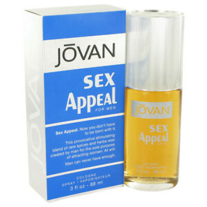 JOVAN SEX APPEAL 88ML EDC PERFUME SPRAY FOR MEN UNSEALED BOX SPECIAL SALE