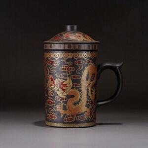Infuser Strainer Ceramic Cup KungFu Teaset Round Purple Filter Tea Cup Drinkware