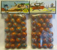2 Bags Of Wile E. Coyote & The Road Runner Cartoon Show Promo Marbles