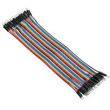 Breadboard Dupont Jumper Cable Male to Male 40Pcs 20cm Color Arduino Electronics
