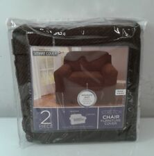 Maytex Pixel Stretch 2-Piece Slipcover Chair, Chocolate , New, Free Shipping