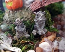 MINIATURE GARDEN MICRO PAIR OF TROLLS, NEW, FAIRY, DOLLHOUSE, TRAIN, TERRARIUM