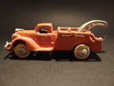 Antique Vintage Style Cast Iron Orange Tow Truck Toy Car