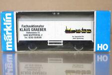 MARKLIN MäRKLIN 4415 K8028 FACHAUKTIONATOR KLAUS GRAEBER BLANC Remorque nc