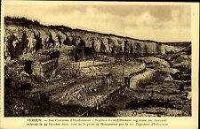 Verdun GUERRA TEATRO AK ~ 1920/30 linea Régiment D 'fanteria fanteria