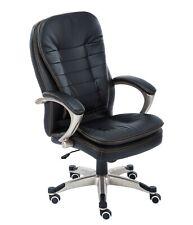 Westwood Exécutif Bureau Chaise – Cuir Pivot Ordinateur Levé Noir OC01 Noir