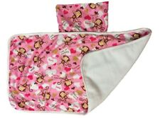 Baby Nappy Changing Mat Foldable Washable Travel Diaper Mat Waterproof Pink