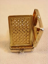 ANCIENNE VINAIGRETTE BOITE A SEL FLACON ARGENT MASSIF OR VERMEIL BOX STERLING
