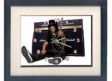 Slash. Celebrity framed print and clock. Saul Hudson. Music memorabilia.
