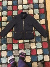 Girls Ralph Lauren Navy Quilted Jacket Size Small....6-7 Yrs Old
