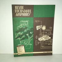 RTA Revue Technique Automobile n° 190 - 1962 : RENAULT R3 R4 R.3 R.4 - BB10A