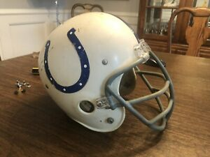 VINTAGE 1960's / 70's  RAWLINGS  BALTIMORE COLTS YOUTH HELMET W/ CAGE FACE MASK