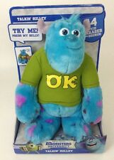 NEW Monsters University Talkin Talking SULLEY Stuffed Plush Disney Monsters Inc
