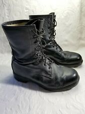 Greb Black Leather Boots Mid Calf Lace Up Combat Rocker Grunge Mens Sz 8.5