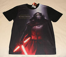 Star Wars The Force Awakens Mens Kylo Ren Black Printed T Shirt Size M New