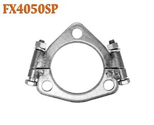 "FX4050SP 2 1/2"" 2.5 Triangle Exhaust Split Flange For 2 1/4"" 2.25"" Flared Y Pipe"