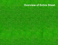 HO Scale Grass Model Train Scenery Sheets –5 Seamless 8.5x11 Coverstock Lt Green