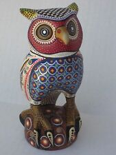 MANUEL CRUZ INTERESTING OWL    OAXACAN CARVINGS  MEXICAN FOLK ART