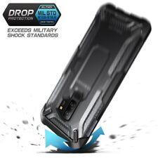 Samsung Galaxy S9 Plus Case Slim Hybrid Cover Shockproof TPU Bumper Frost/Black