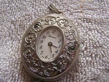 Vintage Lucerne Pendant Watch Silver Toned