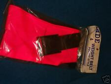 """Weight Belt Pocket Style 4 pockets 32"""" to 38"""" Pink"""