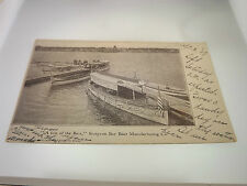 1907 STURGEON BAY BOAT MANUFACTURING CO. WOOD BOATS NAUTICAL POSTCARD