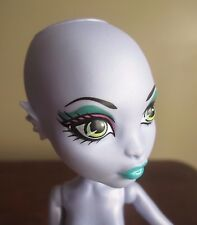 Monster High SEA MONSTER  NUDE doll  ONLY Create A Monster  w/ Black STAND