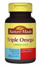 Nature Made Triple Omega 3-6-9 Dietary Supplement 60 Softgels