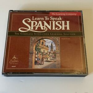 The Learning Company Learn To Speak Spanish Version 8.0 - 4 CD's