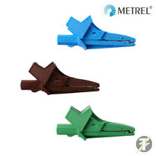 Genuine Metrel MLC3 Green/Brown/Blue Croc Aligator Clips for Test Leads