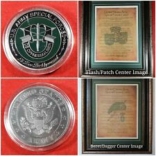 Mc-Best: Special Forces Coin and Personalized Sf Creed Framed