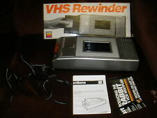 Gemini VHS Rewinder RW1300 Video Cassette Instruction Manual Box Included