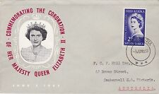 First day cover, South Africa, Scott #192, Queen Elizabeth Coronation, 1953
