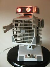 Vintage Oscillating Robot Fan with Red Light Eyes
