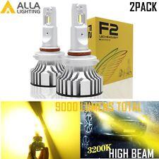 Alla Lighting HB3 LED Headlight High Beam Headlamp Light Bulb Lamp Golden Yellow