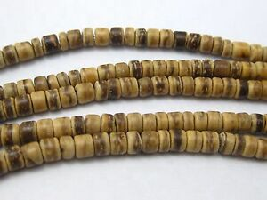 """5 Strands of 16"""" Natural Coconut Wood Beads 5mm Rondelle Beads Jewelry Making"""