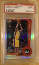 Devean George 1999-00 Topps Chrome ROOKIE #242 Graded PSA 9 Mint RC REFRACTOR