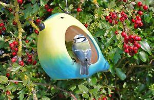 Ceramic Blue Tit Hanging Bird Feeder WildLife World