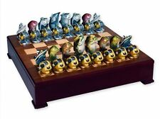 Freshwater Fish vs Saltwater Fish Chess Set Loon Lake Decoy Company Limited NEW