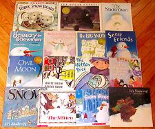 Lot 15 SNOW & WINTER THEME Children's Picture Books teacher resource 2 HBDJ L1