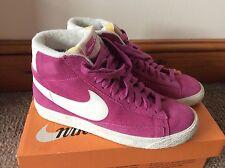 Womens Pink Nike Suede Blazer Trainers Uk Size 4