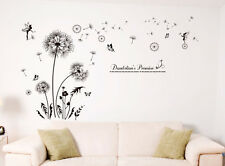 Black Dandelion Fairy Removable Wall Sticker Vinyl Decal Room Home Mural Decor