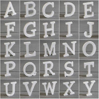 8cm White Wooden Alphabet A-Z Wedding Name Mr & Mrs Freestanding 0-9 Letters UK