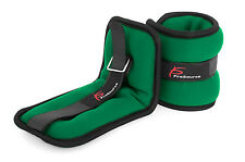 ProSource Ankle Wrist Weights Set of 2 Running Comfort Fit Adjustable 1 lb Green