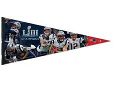New England Patriots Super Bowl Liii Moments 2019 17x40� Wool Collector Pennant