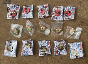 Job Lot Of 15 Marvel comics Metal pin badges Job Lot Bundle